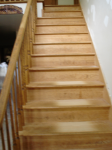 Amaretto Drift Marble, Stairs - Before
