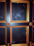 Star-Space mural, 12 panels on ceiling of a Home Movie Theater