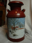 Oil Painting on Milk Drum